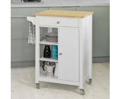 SoBuy® Desserte roulante Chariot de cuisine de service de Rangement,FKW46-WN FR - Dessertes de rangement