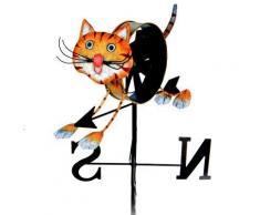 Girouette à vent chat - Jardin - Objet à poser