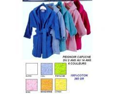 Peignoir capuche enfant 350gr 6 couleurs - Linge de lit