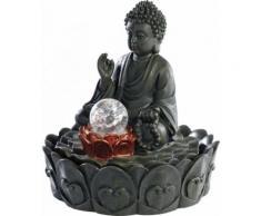 Fontaine lumineuse d'intérieur 'Bouddha' avec boule en verre - Relaxation et massage