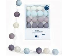 Guirlande veilleuse enfant 16 boules LED - La Case de Cousin Paul - Léo - les bleus - Lampes