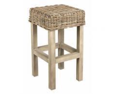 Sellette carrée en poelet gris - Tables d'appoint