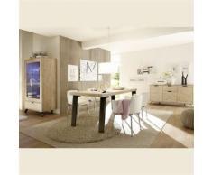 Nouvomeuble - Salle à manger complète moderne couleur bois clair jace - Tables salle à manger