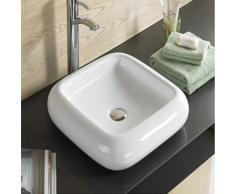 Vasque à Poser Carrée, 46x46 cm, Céramique, Care - Installations salles de bain