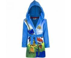 Peignoir polaire Super Wings 4 ans robe de chambre capuche bleu - Linge de bain