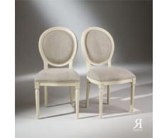 2 Chaises Médaillon Blanches - Chaise
