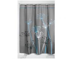Rideau de douche fleurs - InterDesign - Gris et bleu - Objet à poser