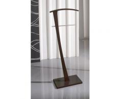 Valet de Nuit Wengé en Bois/Metal sur socle rectangulaire, 28 x 48 x 115 cm -PEGANE- - Objet à poser