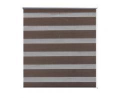 vidaXL Store enrouleur tamisant 120 x 230 cm marron - Fenêtres et volets