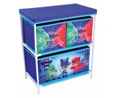 FUN HOUSE 712933 Etagère 3 casiers pour Enfant, PP/Carton/Armature/Plastique, Bleu, 60,5 x 30,5 x 66 cm - Bureaux