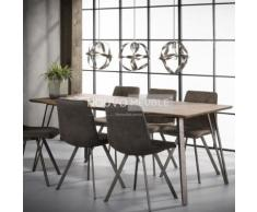 Table à manger couleur bois DAYTONA - L 160 x P 90 x H 76 cm - Tables salle à manger