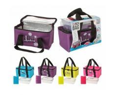 Lunch bag avec lunch box et pain de glace - Sac de transport isotherme - Rose - Autres