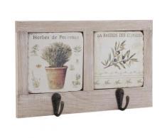 Patères en bois et céramique Provence - Décoration murale