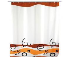 Rideau de douche waves 180 x 200 cm - motif coloré - Accessoires de rangement
