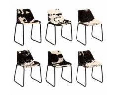 Meelady Chaise de Salle à Manger Ensemble de 6 pcs Bureau de Cuisine/Salon en Cuir Style vintage - Multicolore - Chaise