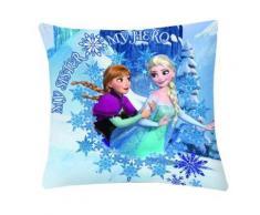 La Reine Des Neiges Coussin Déhoussable Anna Et Elsa Bleu 40 Cm Uni77113 - Rideaux et stores