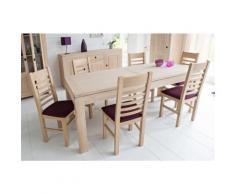 Table moderne extensible BOSTON - bois chêne blanchi massif - Tables salle à manger