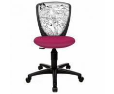 Topstar Chaise de bureau enfant / Siège de bureau enfant SWA SCOOL motif cheval rose - Sièges et fauteuils de bureau