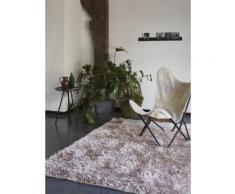 Tapis COOL GLAMOUR shaggy laiton Esprit Home Beige 200x200 - Tapis et paillasson