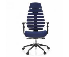 Chaise de bureau / Chaise pivotante ERGO LINE II PRO tissu bleu hjh OFFICE - Sièges et fauteuils de bureau