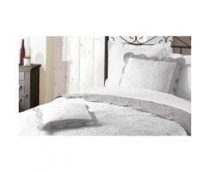 Housse de coussin 45x45 EMMA gris/blanc - Linge de lit