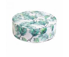 Coussin de sol rond Tropical - Diam. 50 cm - Vert - Textile séjour