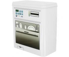 Boite De Rangement Poudre Pastille En Métal Avec Couvercle A Clips Déco Lave Vaisselle - vaisselle
