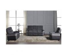 Salon complet Relax électrique - DAVINA - L 200 x l 94 x H 106 - Tables salle à manger
