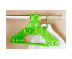 Cintres en plastique - Lot de 10 - Vert - Rangement penderie - Objet à poser