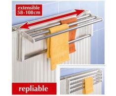 Porte serviette pour radiateur Butterfly - Aluminium - L. 58/108 cm - Objet à poser
