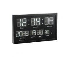 Horloge murale radio-pilotée à LED blanches - Décoration murale