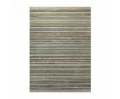 Tapis coloré SAMBA STRIPES par Esprit Home motif Rayé Vert 200x200 - Tapis et paillasson