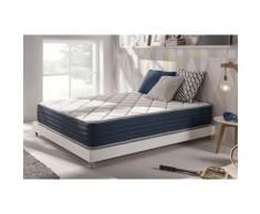 Matelas a memoire Royalvisco 80x190 cm mousse HR BLUE LATEX(r) thermoregulable a 7 zones de confort, 24 cm - Matelas