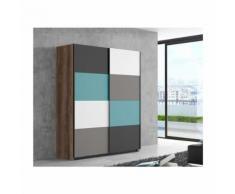 RAVEN Armoire de chambre contemporain multicolore - L 170 cm - Armoire