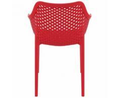 Chaise de jardin / terrasse 'SISTER' rouge en matière plastique - Chaise