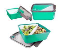 Boite à Repas Lunch Box à compartiment Amovible + Fourchette - Vert - Autres