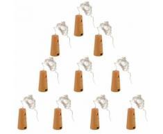 10pcs Décoration De Fête Lampe Bouteille de Vin Bouchon Fil de Cuivre Veilleuse Étoilée pour Mariage Noël LD961 - Objet à poser