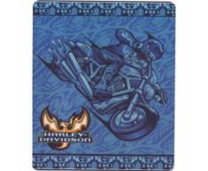 plaid harley davidson moto bleu 150cm ideal canapé salon - Textile séjour
