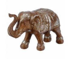 Paris prix - statuette 'éléphant' en résine 15cm marron - Objet à poser