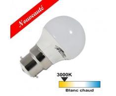 Ampoule led B22 4 watt (eq. 30 watt) - Couleur eclairage - Blanc chaud 3000°K - Ampoules à LEDs