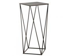 Sellette design en métal noir - Tables d'appoint