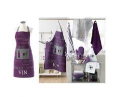 Tablier de cuisine avec poche cave a vin violet - Autres