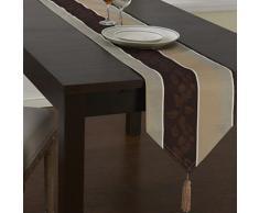 Chemin de table classique à rayures multicolores en lin - Autres