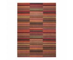 Tapis design pétillant Esprit Colorpop motif Rayé Rouge 200x200 - Tapis et paillasson