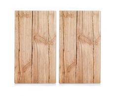 Zeller present 26277 wood couvercle de cuisinière/planche à découper verre set de 2 - Ustensiles