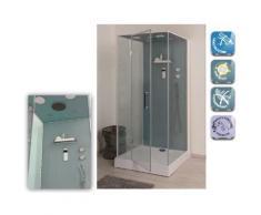 Aqua+ - cabine de douche haut de gamme carrée accès de face porte pivotante 90x100cm - bria - Installations salles de bain