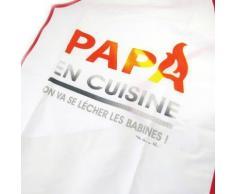Les Trésors De Lily [M5150] - Tablier de cuisine 'Papa en Cuisine' on va se lécher les babines ! - Autres