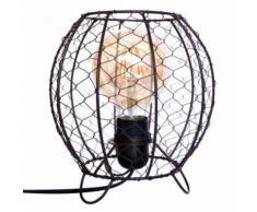 Lampe grillage style industriel - h 21 cm 08422752 - Appliques et spots