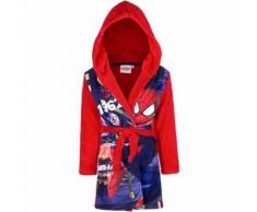 Peignoir polaire Spiderman 3 ans robe de chambre capuche rouge - Linge de bain