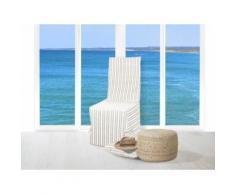 Housse de chaise jacquard COTONADE écru - Textile séjour